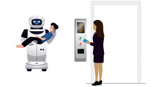 机器人乘梯电梯门禁